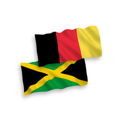 Flags belgium and jamaica on a white background vector