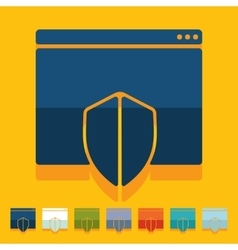 Flat design internet security guard vector