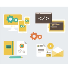 Flat design of business branding and development w vector