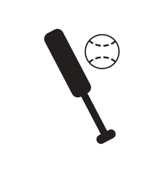 Flat icon in black and white style ball baseball vector