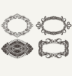 Four Oval Frames vector