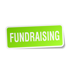 Fundraising square sticker on white vector