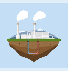 Geothermal energy concept eco friendly geothermal vector