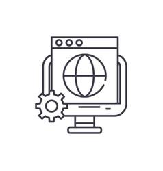 global seo line icon concept global seo vector image
