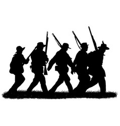 group american civil war soldiers vector image