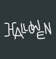 halloween text logo vector image