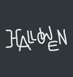 hallowen text logo vector image