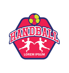 Handball logo with text space for your slogan vector