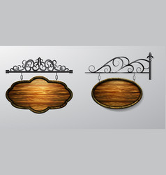 hanging wooden board wooden object for vector image