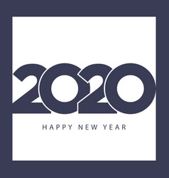 happy new year 2020 template modern business style vector image