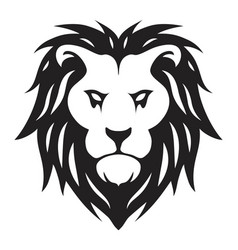 head lion vector image