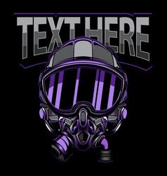 helmet pilot logo vector image
