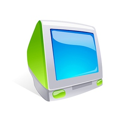 Icon computer monitor vector