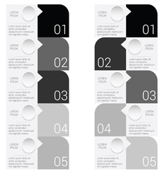 infographic set in black vector image