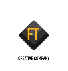 Initial letter ft black creative design logo in vector