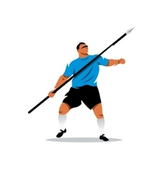 Javelin Thrower Cartoon vector image