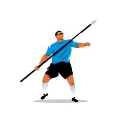 Javelin Thrower Cartoon vector image