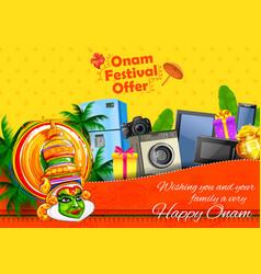 Kathakali dancer on advertisement and promotion vector