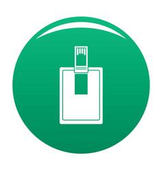 Key connector icon green vector