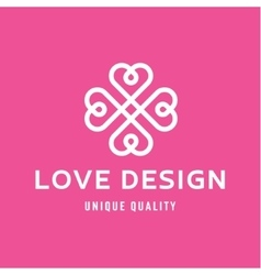 Love Design Hearts in the form of a monogram style vector image