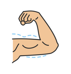 Male arm lift surgery color icon vector