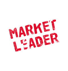 Market leader rubber stamp vector