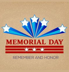 memorial day greeting card vector image