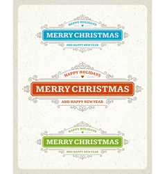 Merry Christmas postcard ornament decoration vector