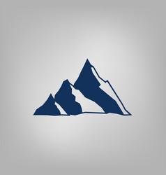 Mountain icon - stylized image vector