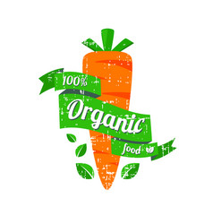 natural foods the logo or icon vector image vector image