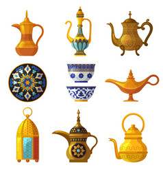 Old arabic heritage traditional cultural vector