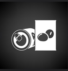 Olive can icon vector