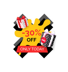 Only today 30 percent price reduction sale banner vector