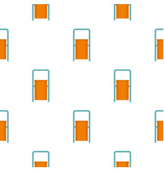 Orange public garbage bin pattern seamless vector