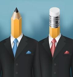 pencil and eraser men vector image