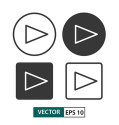 Play button icon set isolated on white eps 10 vector