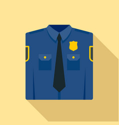 police uniform icon flat style vector image