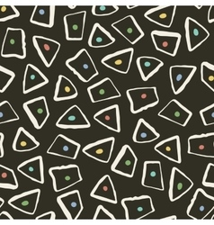 Retro style seamless pattern with geometric shapes vector