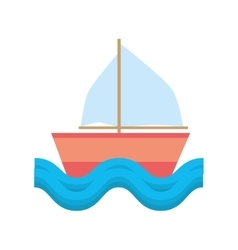 sailing ship vacation travel beach vector image