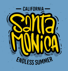 Santa monica california design logo sign label fo vector