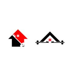 set of house key logo vector image
