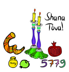 shana tova 5779 inscription vector image