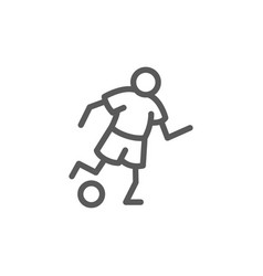 soccer player line icon vector image