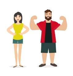 Sport man and woman fitness people vector