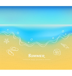 Summer background with sand and water vector image