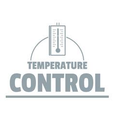 Temperature control logo simple gray style vector