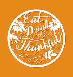 Thanksgiving laser cutting template vector