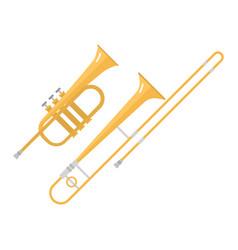 Trombone tuba trumpet classical sound vector