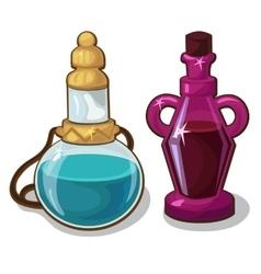 Two bottles elixir on white background vector