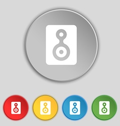Video Tape icon sign Symbol on five flat buttons vector image